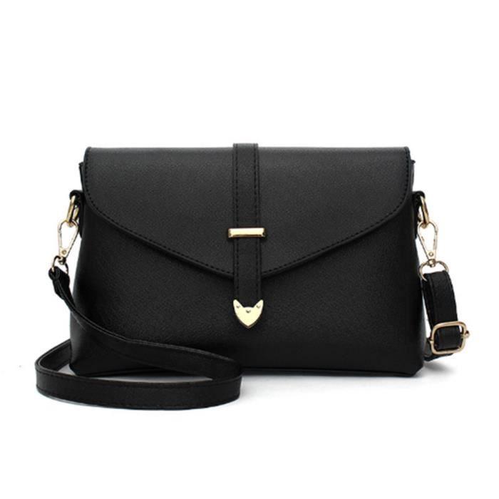 868415e3788e4 Sac a main cuir simple petit sac bandouliere femme HZ-BB133Noir ...