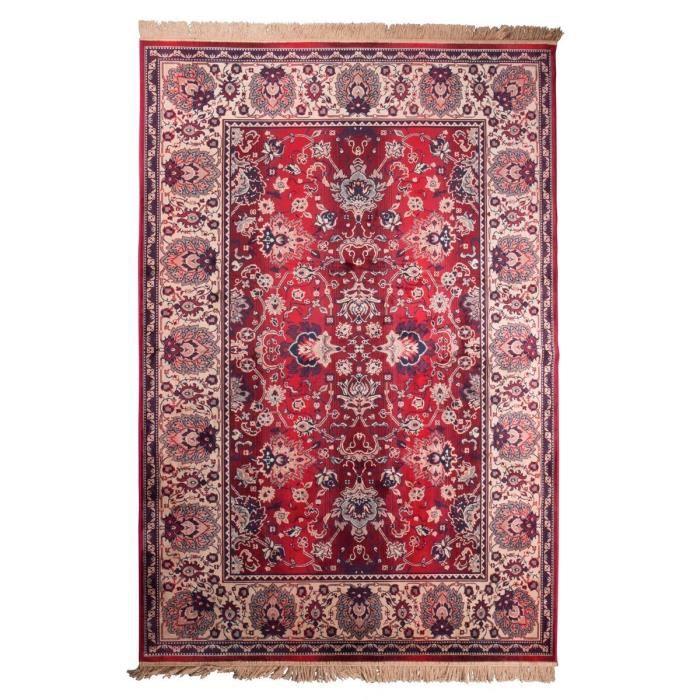 tapis tapis vintage rouge old bid dimensions 200x300 cm - Tapis Vintage