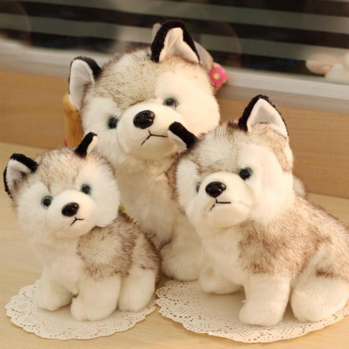 peluche chien husky achat vente jeux et jouets pas chers. Black Bedroom Furniture Sets. Home Design Ideas