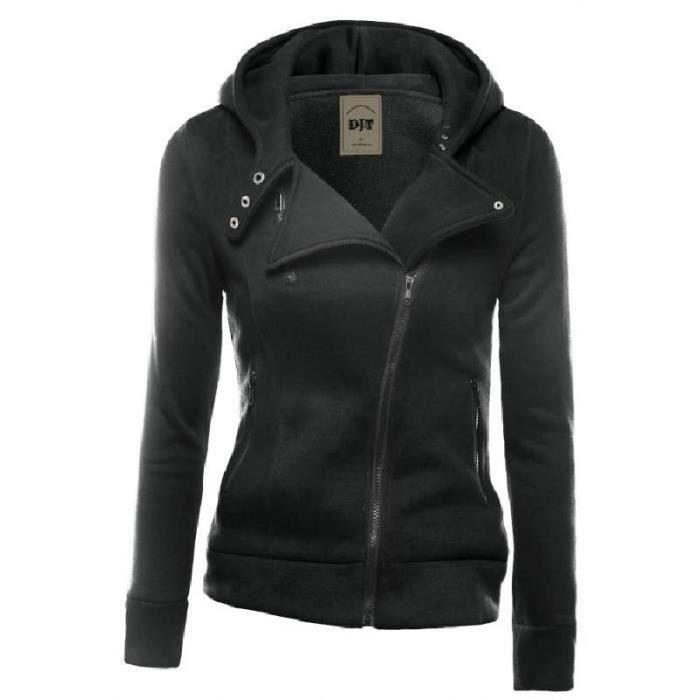 Avec Zipped Veste Capuche Profond Gris Jacket Femme Achat Noir R1Tq5txtw