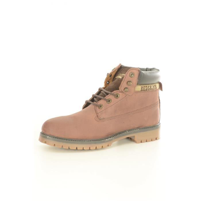 Marron Homme Dutac REDSKINS cuir Boots xpwaqtFB