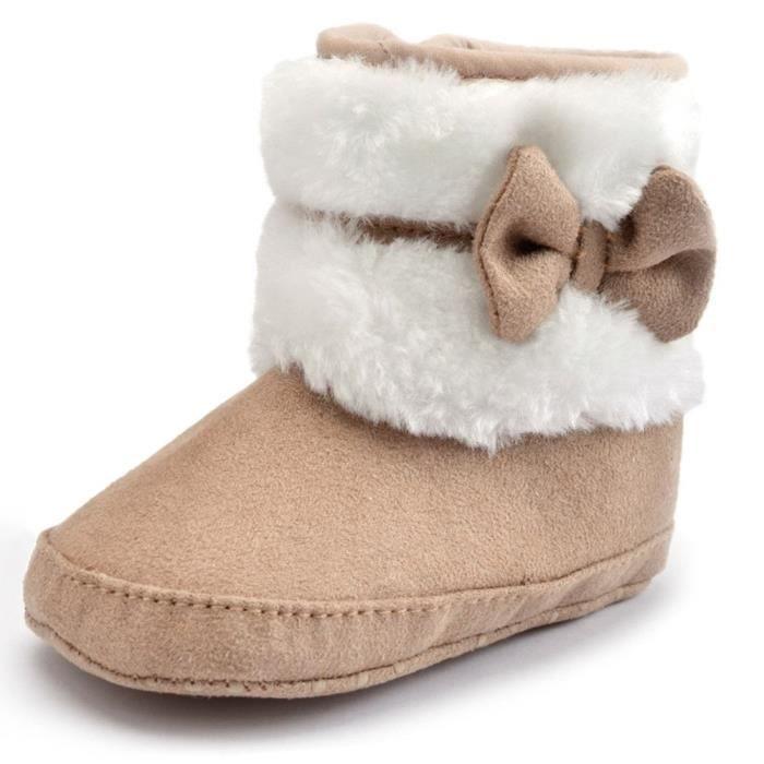 Minetom Coton Chaussures Bébé Fille Keep Warm Soft Sole Bottes De Neige Crèche Chaussures Toddler Bottes Hiver Bootie Shoes