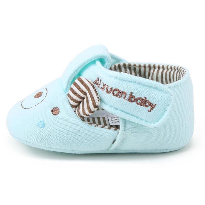 BOTTE Nouvelle mode bébé fille garçon doux semelle antidérapante coton Toddler chaussures@Bleu 2SzIxpbc