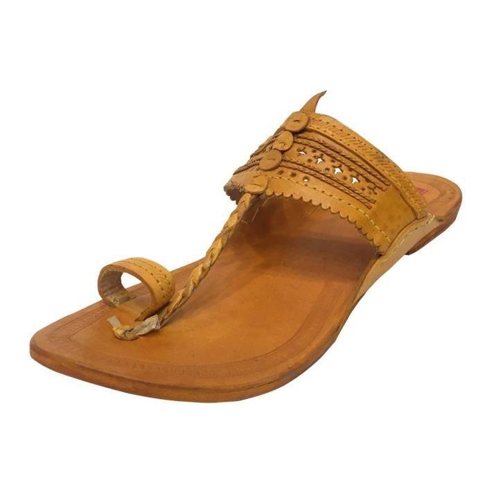 Seventy's Handmade Leather Sandal Shoes Flipo On Boho Hippie Ruralart Ss7 TWCQD Taille-39 1-2 ehA4QMH