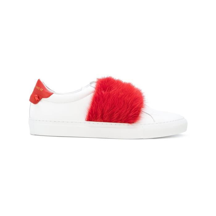 GIVENCHY FEMME BE09192161112 BLANC/ROUGE CUIR CHAUSSURES DE SKATE LrqucAVidP