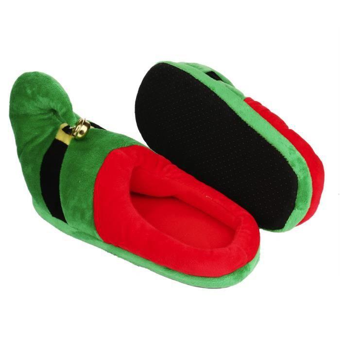 Hiver Pantoufles Pour Enfants Noël Garçon Fille Pantoufles En Peluche BJYG-XZ135Vert26