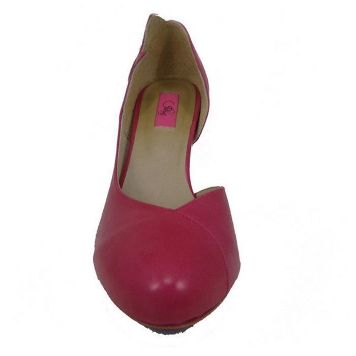 Chaussures femme en cuir DALLAS Rose F8cUKz5