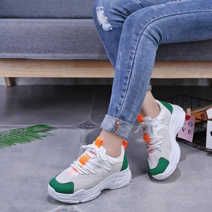 Mode Chaussures Sneakers Sport Basket De Noir Femme qC88x7fSE