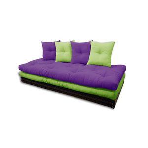 CANAPÉ - SOFA - DIVAN Canapé Tatami, vert-violet, 80x200 cm.