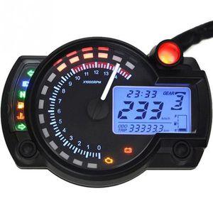 COMPTEUR LCD Digital Odomètre Tachymètre Speedo Compteur Vi