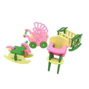 MAISON POUPÉE Miniature Dollhouse Furniture Set jouets en bois t