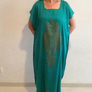 ROBE Djellaba pour  femme verte main de fatma robe maro