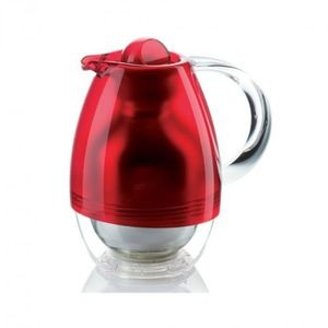 BOUTEILLE ISOTHERME Guzzini - Carafe isotherme rouge 1L