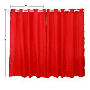 RIDEAU 2pcs rideau de tissu de gaze oeillet rideaux avec