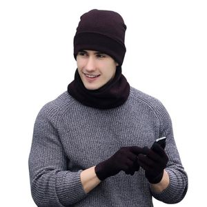 9b0ec45d8a9b ECHARPE - FOULARD VbigerD hiver Tricotés Ensemble bonnet pour Hommes