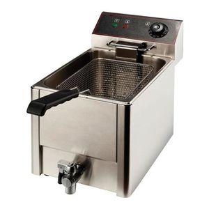 FRITEUSE ELECTRIQUE Friteuse à cuve amovible avec robinet - 3500 kw