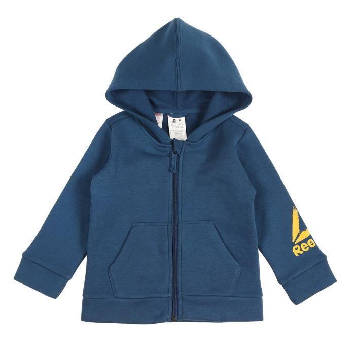 REEBOK Sweatshirt Element FZ Fleece HD - Enfant garçon - Bleu