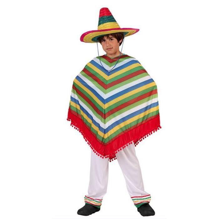 ATOSA Deguisement Garcon Mexicain - Panoplie Enfant