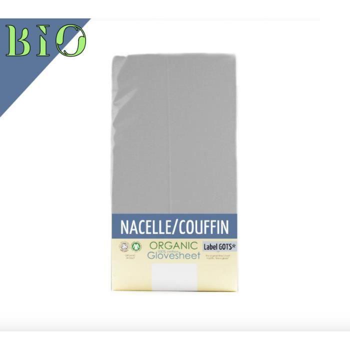 Drap Housse Nacelle Couffin pour Matelas 73 x 30 cm en Coton