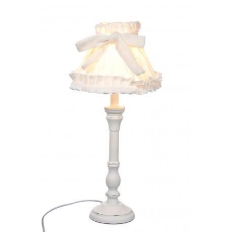 Lampe En Abat Bois Et Poser Romantique Nœud À Blanc Jour ZiXPku