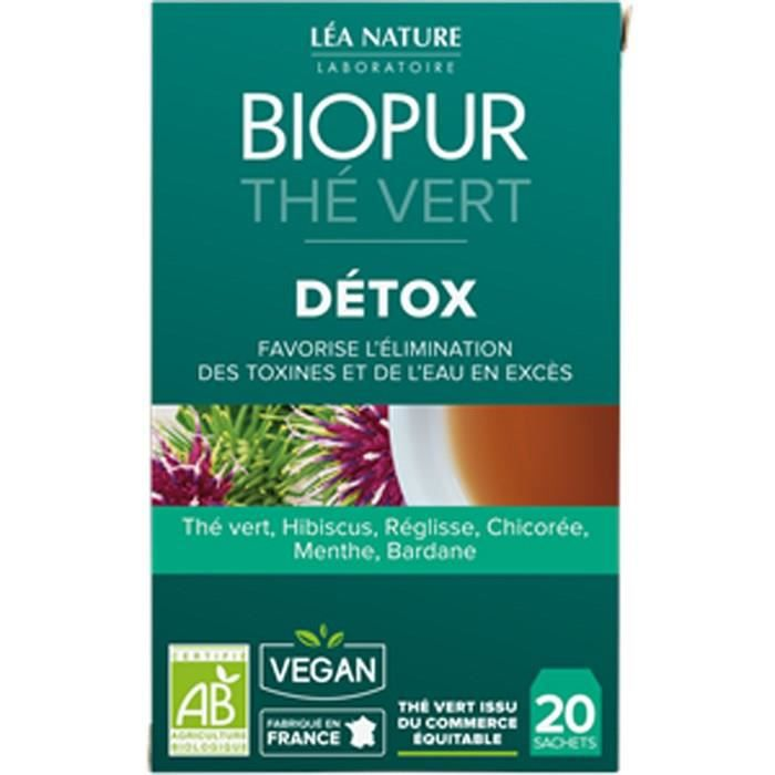 COMPLÉMENT MINCEUR BIOPUR Thé vert - Détoxication - 30 g