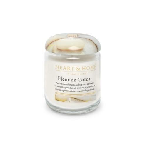 Fleur De Coton Bougie Petite Jarre Heart Home Achat Vente