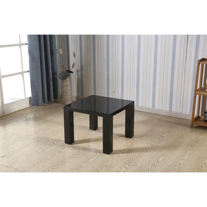 Table basse carre noir laque achat vente table basse for Table basse noir laque pas cher