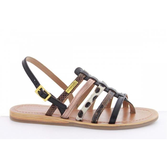 Chaussures pour enfants sandales fermeture velcro loisir jeune noir Multi 25 8TCdKRErf0