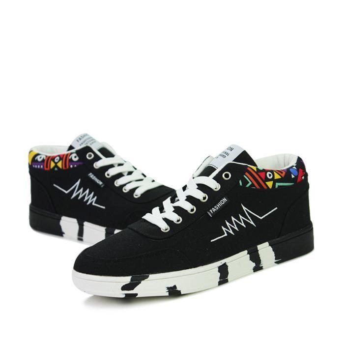 Chaussures De Sport Pour Hommes en daim Textile De Course Populaire TYS-XZ119Noir42 lVBBUsFT