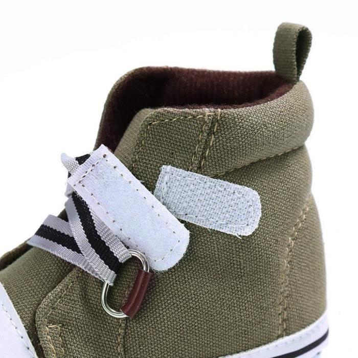 a651c7803cfb2 BOTTE Chaussures bébé garçon fille nouveau-né crèche chaussures à semelle  souple KhakiHM