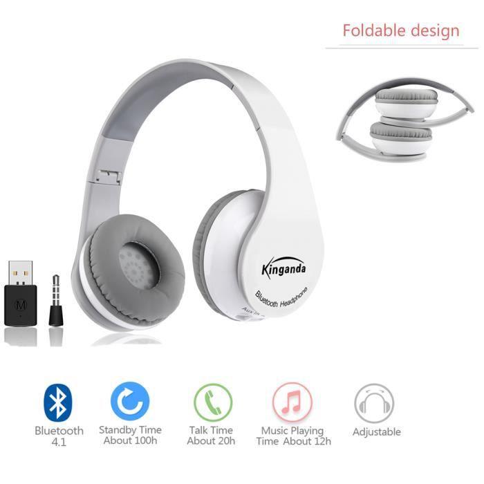 Sans Fil Bluetooth Usb Dongle Gaming Stéréo Headset Pour Casque