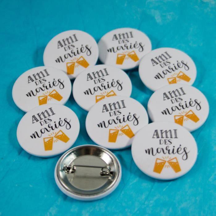 10 Badges mariage. Ami des mariés