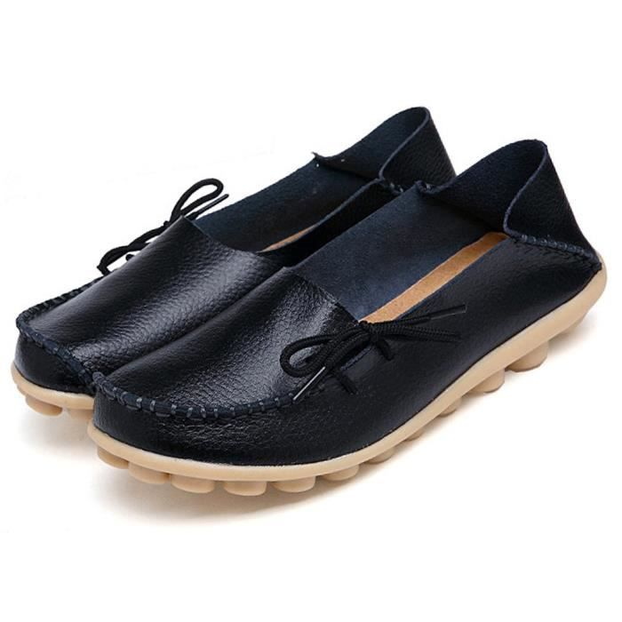 Slip On Flats Drivers Leather Casual Comfort Shoes Boat Loafers Footwear XTTSI Taille-41 1-2