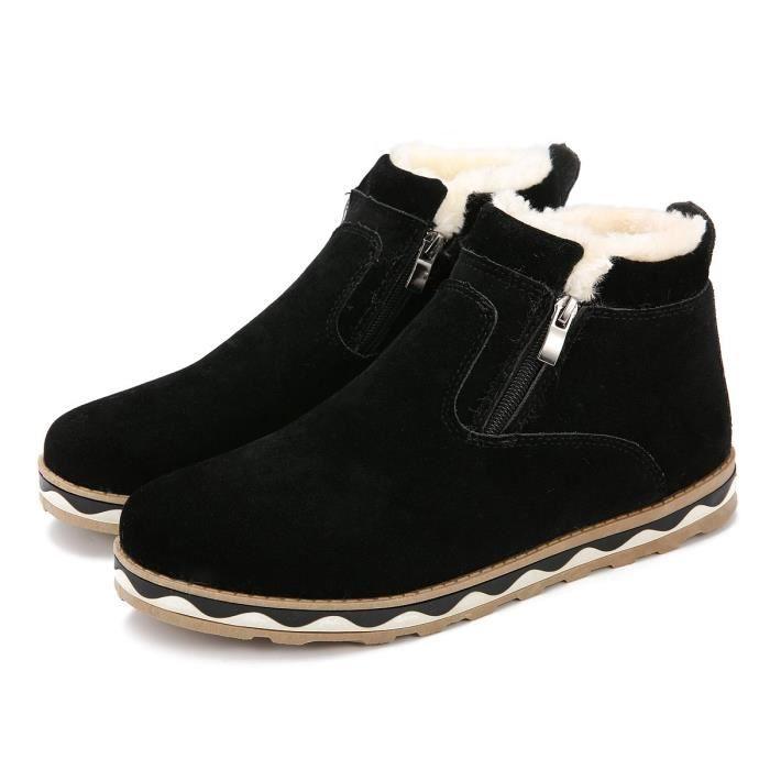 De forme Chaussures 2 Chaudes Taille Bottes 40 Style Plates 1 Femmes Suede Et Neige Britannique 3c9ggp Plate Velours D'hiver qwYvP