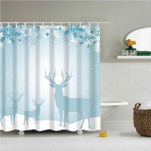 RIDEAU DE DOUCHE Salle de bains douche imperméable rideau de Noël B