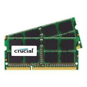 MÉMOIRE RAM Crucial kit 8Go DDR3 1066MHz    CT2C4G3S1067MCEU