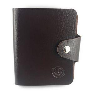 CARTE A COLLECTIONNER Mini classeur souple Lagiwa® MARRON pour Cartes Po
