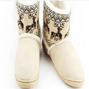 Bottes Femmes Hiver Meilleure Qualité ConfortableBoots Coton-RembourrÉ Christmas Deer Snow Chaussures Femme Nj8UmCaLbR