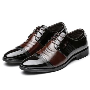 MOCASSIN Hommes Casual Chaussures en cuir bout pointu Fashi