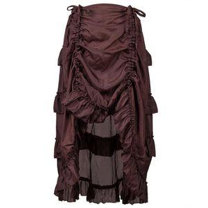 JUPE Steampunk Jupe gothique de femmes Volants Jupe Pir