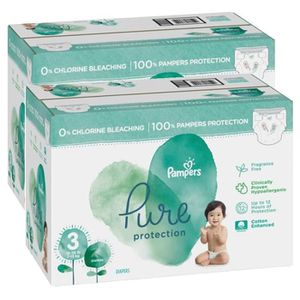 COUCHE 132 Couches Pampers Pure Protection taille 3