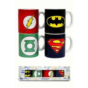 BOL - MUG - MAZAGRAN DC COMICS - Mug - Set de 4 tasses Expresso