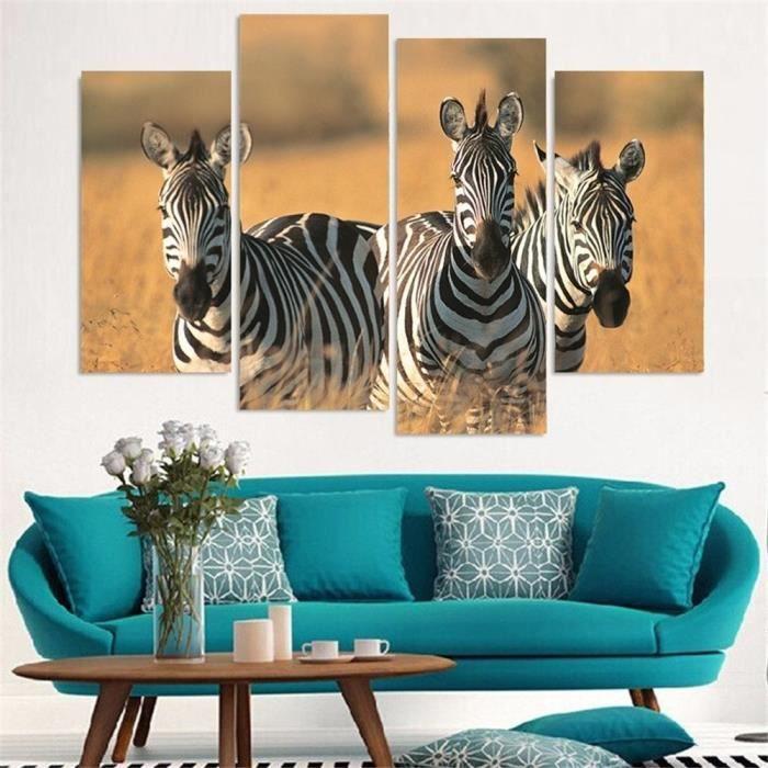 Noir Et Blanc Couleur Afrique Zebre Peinture Art Pour Salon
