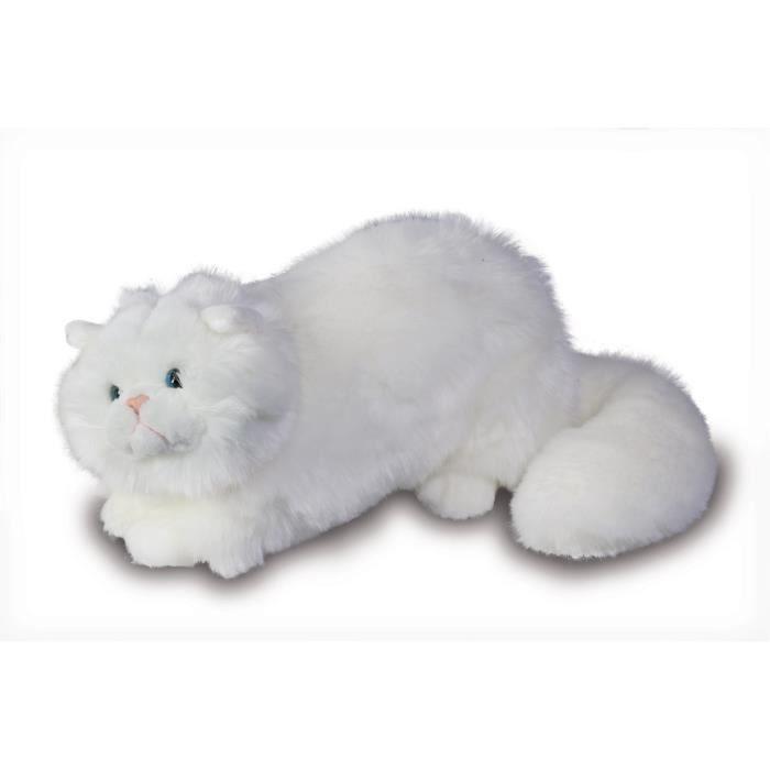 peluche chat blanc achat vente jeux et jouets pas chers. Black Bedroom Furniture Sets. Home Design Ideas
