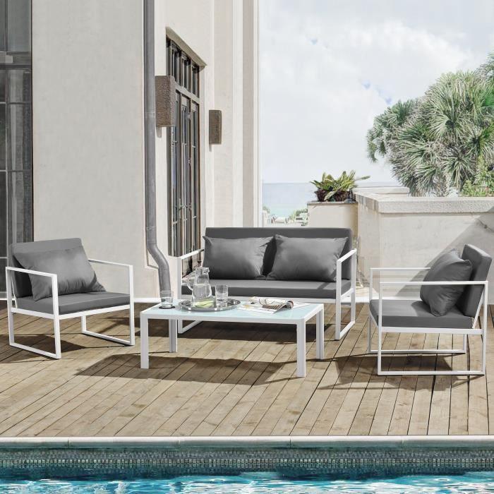 casa.pro]® Salon de jardin Ensemble de jardin Table basse avec ...
