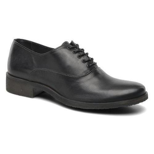 Exton chaussure Homme éléganten cuir gris foncé, avec semelle en cuir véritable, 1371 E17