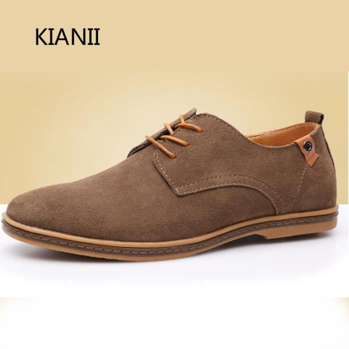 Suede Homme Kianii Derby Simples Souliers Chaussures srdChQotBx