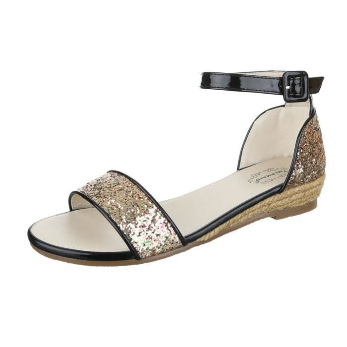 femme sandale chaussure chaussures d'été chaussures de plage confortablePaillettes vert Mh0YI0dw