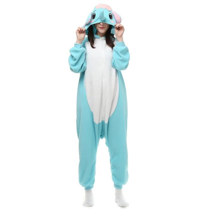 Hiver Cosplay Femme l Homme Pyjama Btys Kigurumi fz080bleu Animé Éléphant Adulte qwFqpCOxA