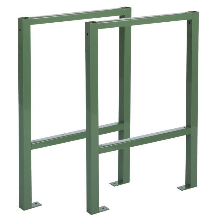 pied pour tabli x2 achat vente etabli meuble atelier pied pour tabli x2 cdiscount. Black Bedroom Furniture Sets. Home Design Ideas